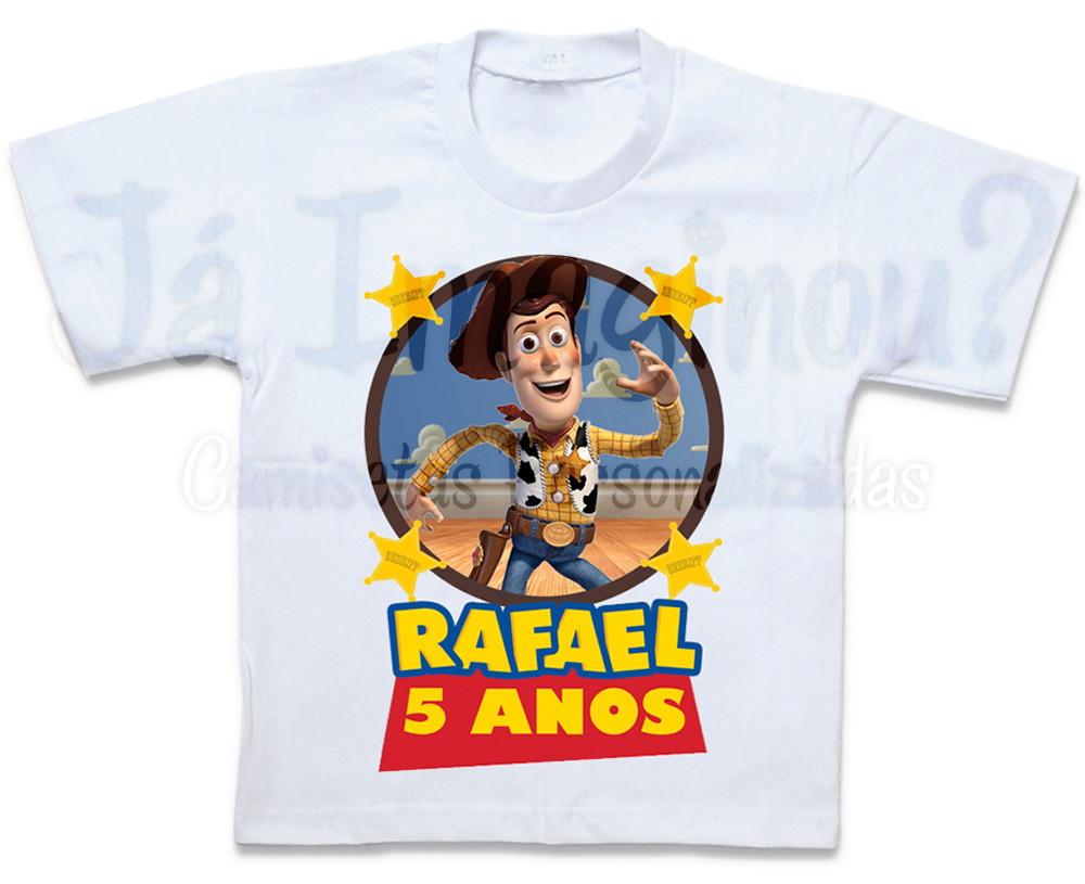 257174cc296bd Camiseta Toy Story Woody no Elo7