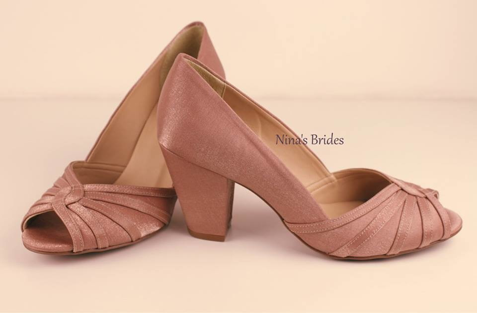 35a9e64b3b Peep Toe Salto Bloco debrum no Elo7 | Nina's Brides (8A7A57)