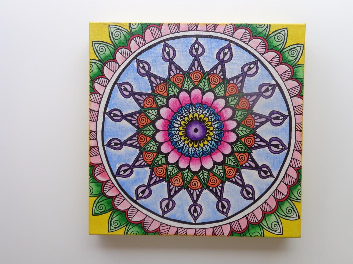 Quadro Mandala Pintado A Mao No Elo7 Mandalarte 8a9045