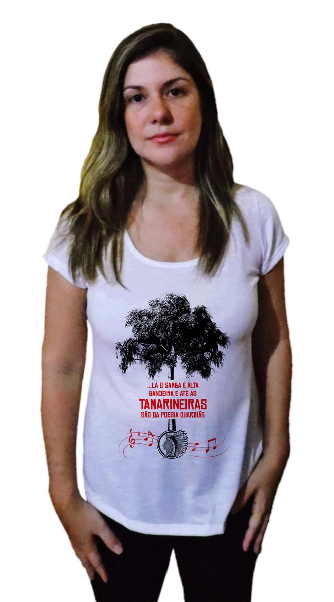 3025dd8456e4d Camiseta Feminina Samba Cacique de Ramos no Elo7