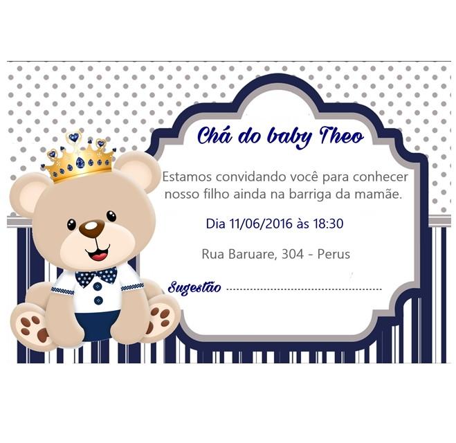 Convite Chá De Bebê Digital No Elo7 Debora Festas 8ac0c8