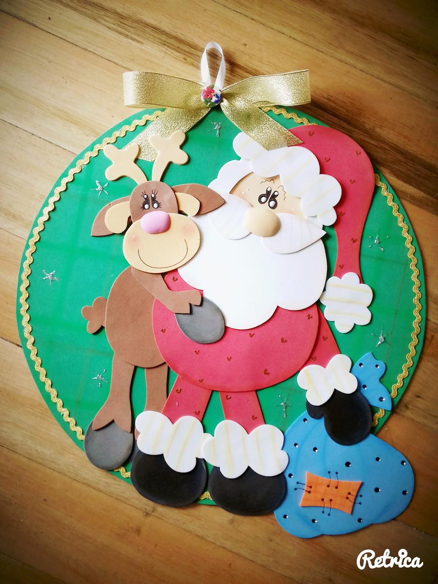Placa de Porta Natal em Eva no Elo7 Artes e Mimos Jaine (8ACCFA) -> Decoração Em Eva Natal