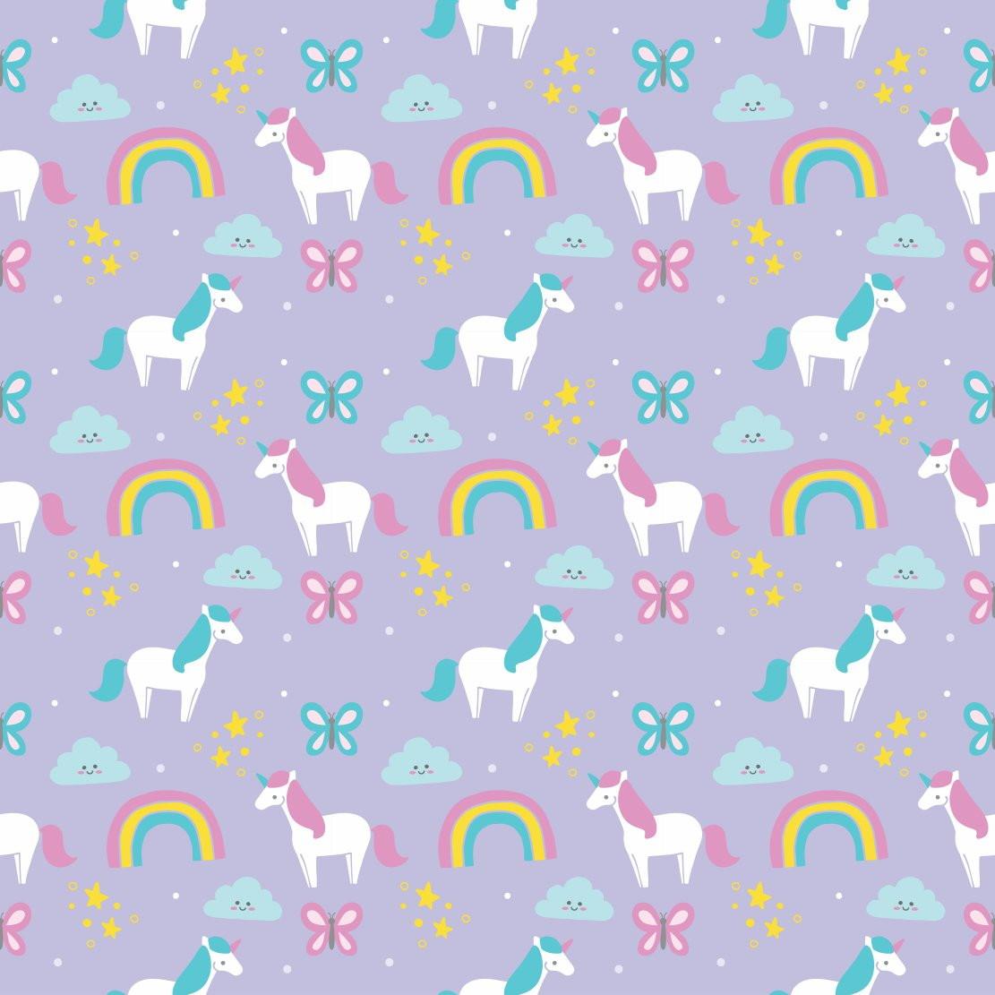 Papel Parede Infantil Unicornio Digital