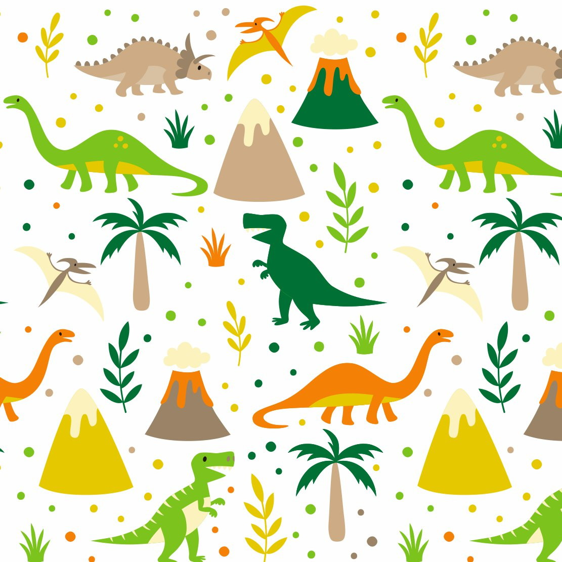 Papel de parede infantil dinossauros sunset adesivos elo7 for Papel para pared infantil