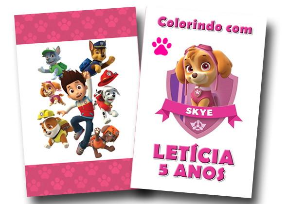 Revista Colorir Patrulha Canina Skye No Elo7 Tudo De Festa