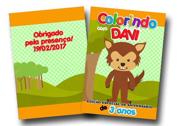 Revista Colorir Lobo Mau 14x10 No Elo7 Tudo De Festa Galvao 8af935
