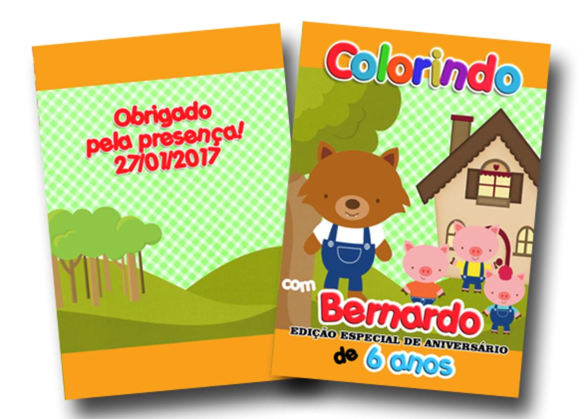 Revista Lobo Mau 3 Porquinhos 14x10 No Elo7 Tudo De Festa Galvao