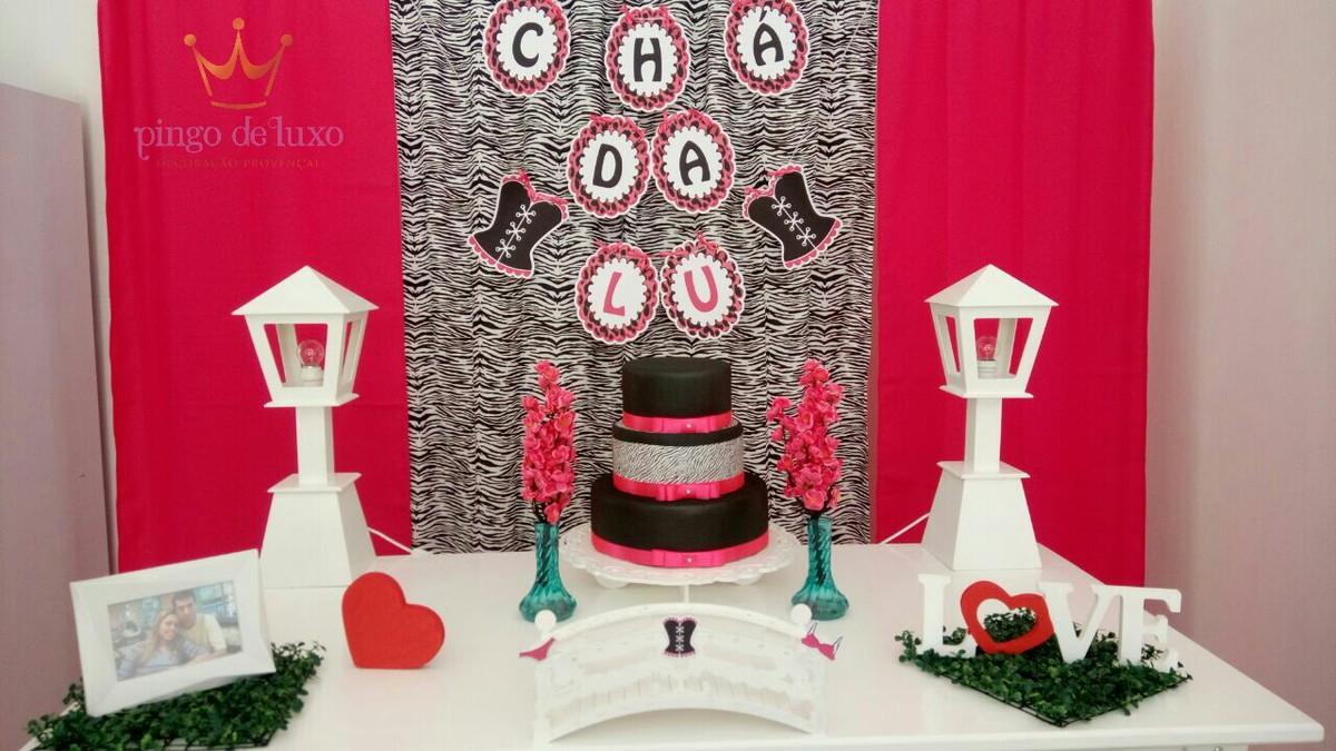 Decoraç u00e3o Chá de Lingerie Pink e Zebra no Elo7 Pingo de Luxo Decoraç u00e3o Provençal (8B3366) -> Decoração De Zebra Para Aniversario