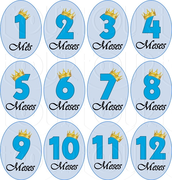 Artesanato Madeira Passo A Passo ~ Adesivo Mesversário Principe AD045 Four Baby& Kids Elo7