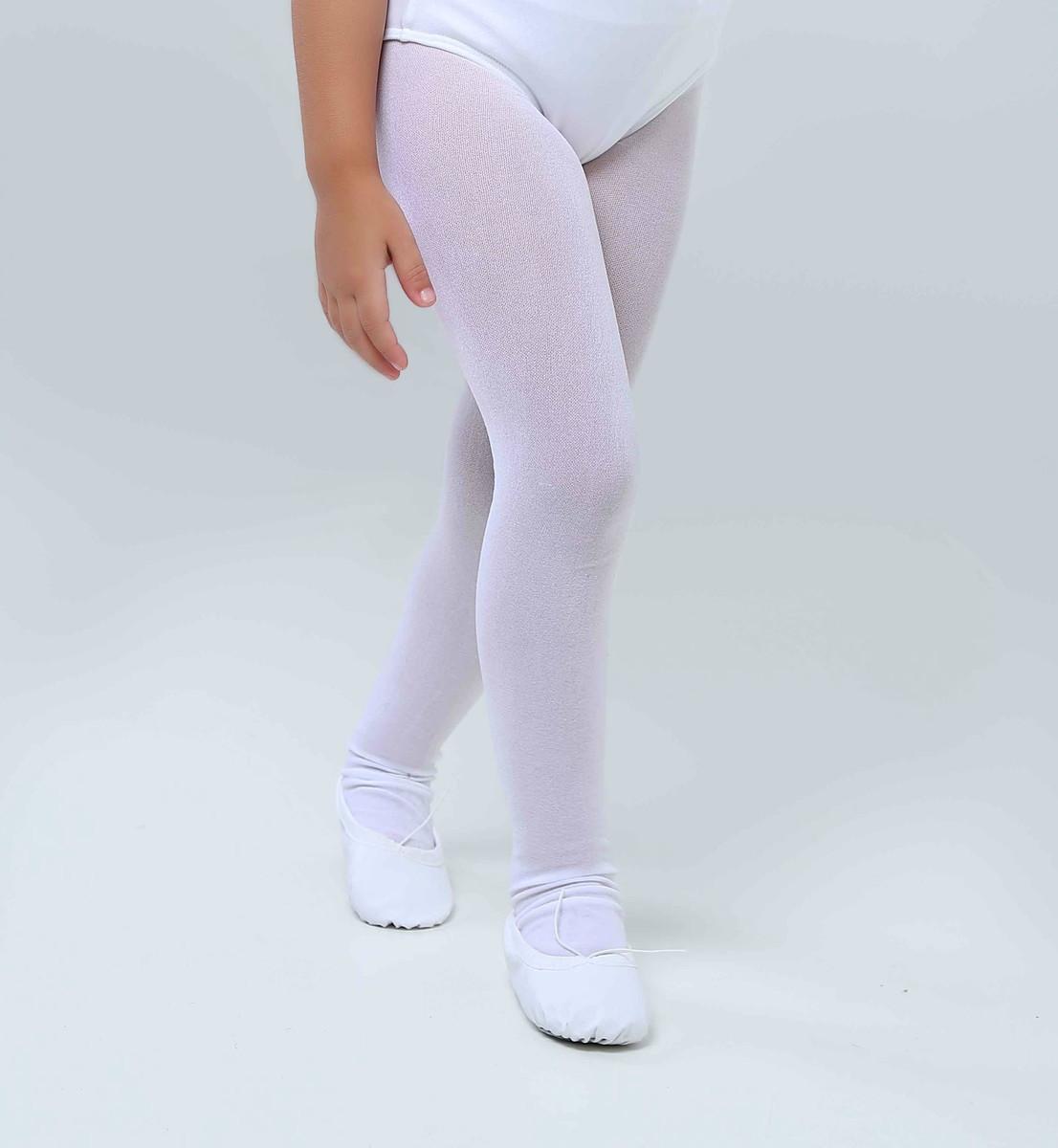 b9f40bea2 Meia Calça Ballet Infantil Branca no Elo7