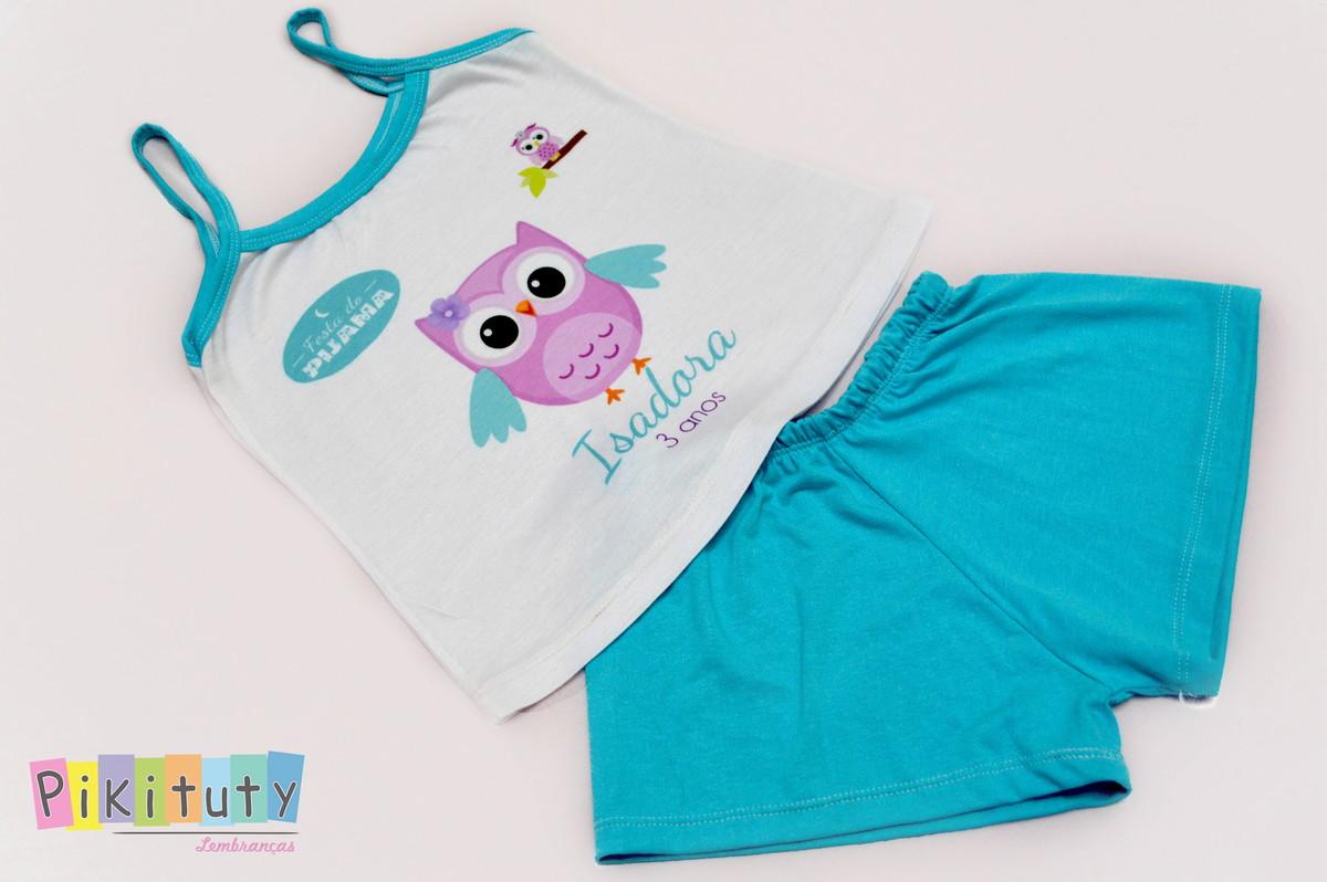 08306d054 Pijama Baby Doll Coruja no Elo7