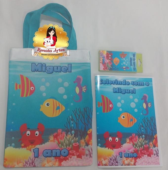 Kit colorir na sacola FUNDO DO MAR no Elo7   Renata Artes (8BC724) 10b12d1c1e
