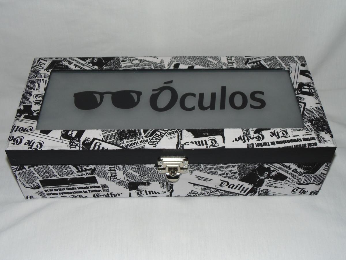 Caixa para Óculos no Elo7   Crisr Artesanato (2DF3AE) 511a77293c