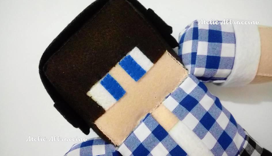 Minecraft Skin Authenticgames Azul No Elo Ateliê Abbraccino - Skin para minecraft do zoom