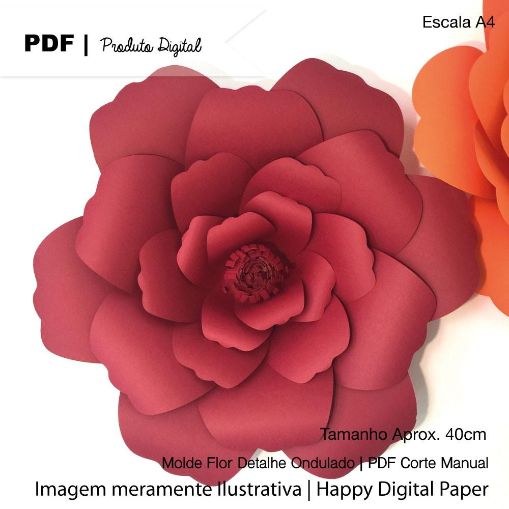 Molde Digital P Flor Gigante De Papel No Elo7 Happy Digital Paper