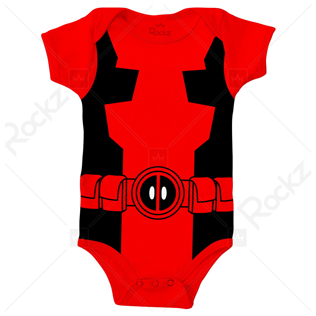 76b7378721 Body Para Bebê Deadpool no Elo7
