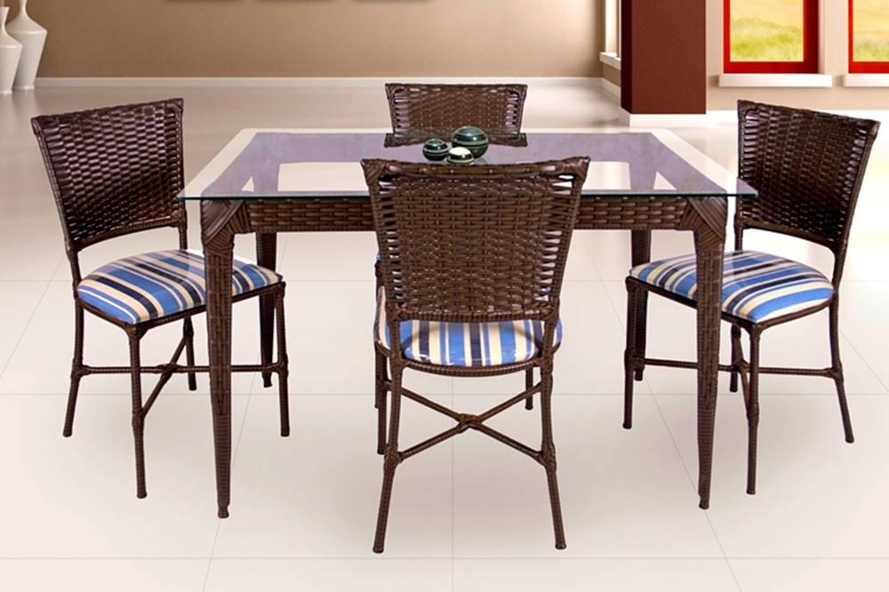 Mesa 4 cadeiras em fibra sint tica vs fast shop elo7 for Conjunto jardin fibra sintetica