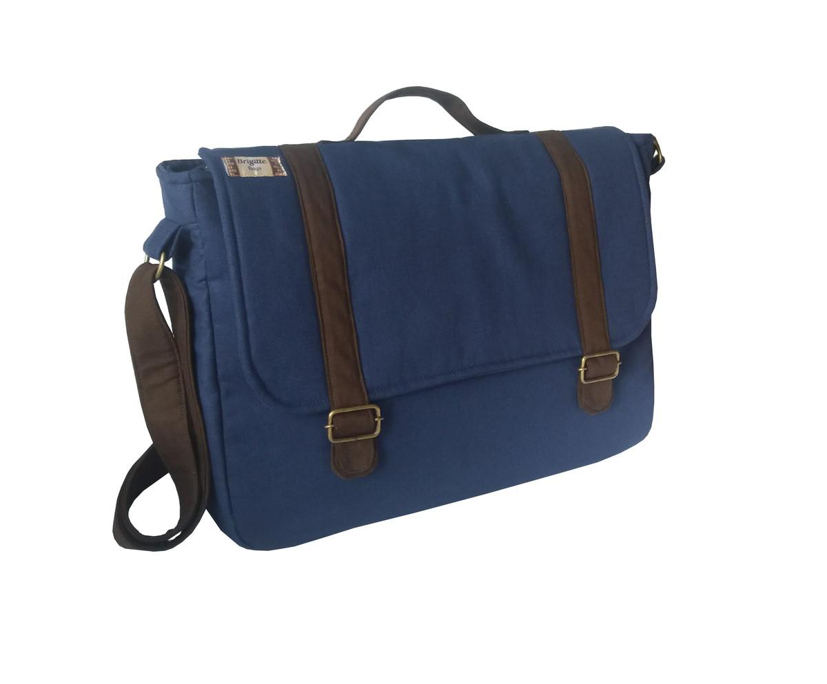 4fd2d20e8 Bolsa Carteiro Grande Azul Marinho no Elo7 | Brigitte Bags (8C5055)