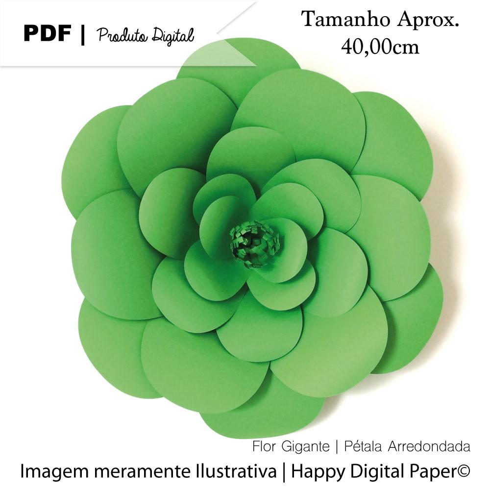 Molde Digital P Flor De Papel Gigante No Elo7 Happy Digital Paper