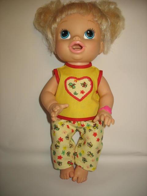977b88b38 Pijama Para Baby Alive Hora de Comer no Elo7