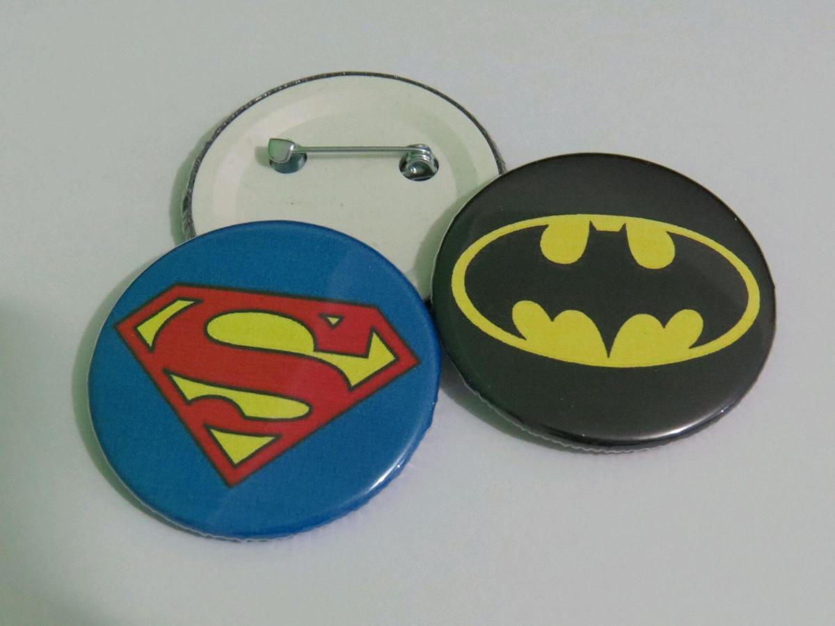 ef635562aa652 Botton Batman x Super-Homem no Elo7