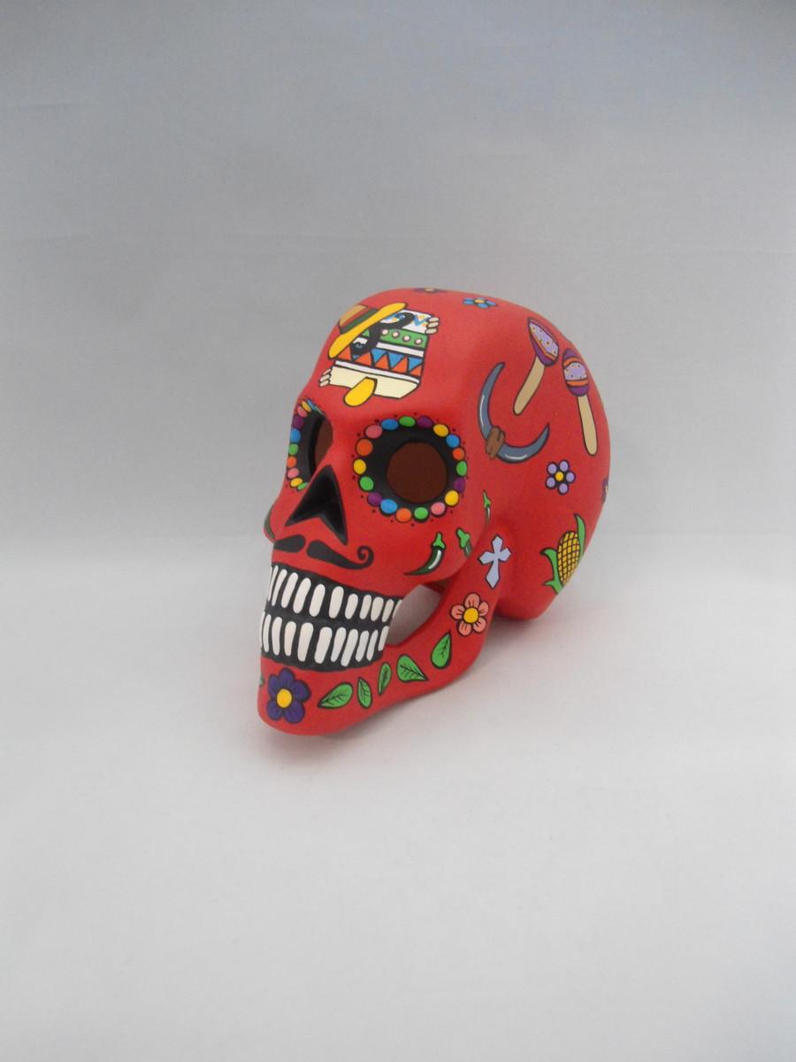 Crânio Cav Mex Cerâmica Verm. CÓD. 1044 no Elo7  ec1dc49be82