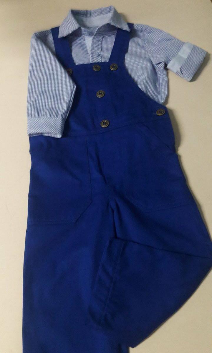 33fe5a3dfe Jardineira infantil com camisa no Elo7
