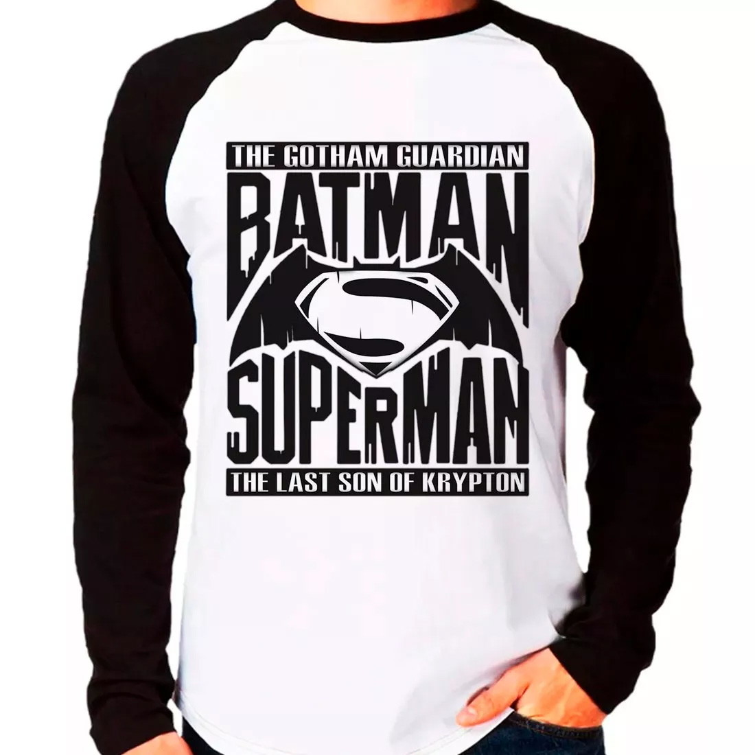 91bfd84fe7 Camiseta Batman Vs Superman Manga Longa no Elo7
