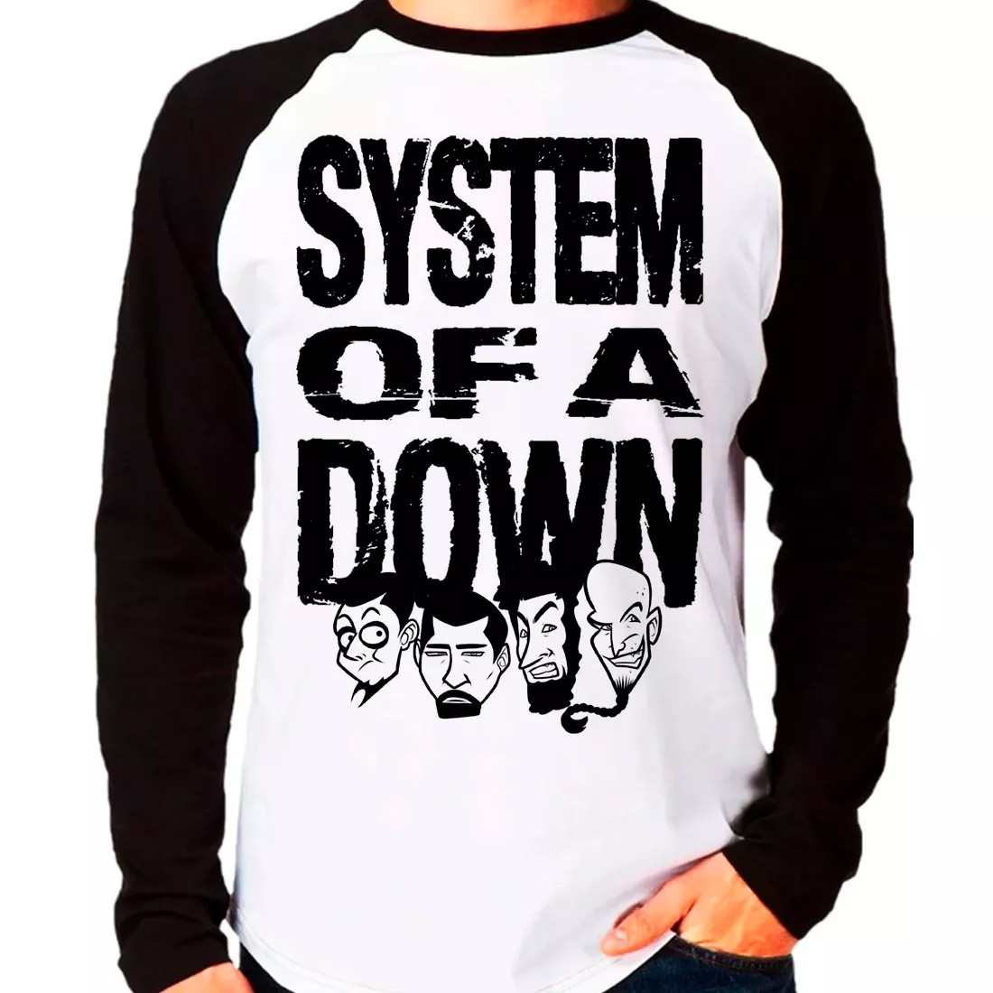 Camiseta System Of A Down Manga Longa no Elo7  2a1b27eca785c