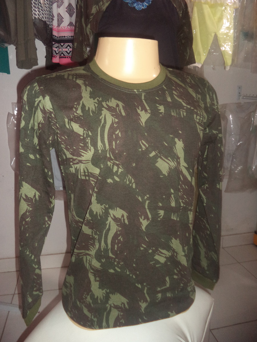 Camisa Camuflada Masculina Manga Longa no Elo7  8e80b31fc6d