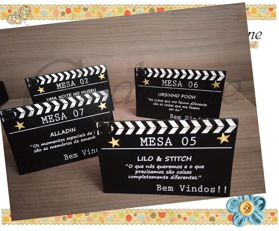 Plaquinhas De Mesa Frases De Cinema Gde No Elo7 Crisdriane Artes