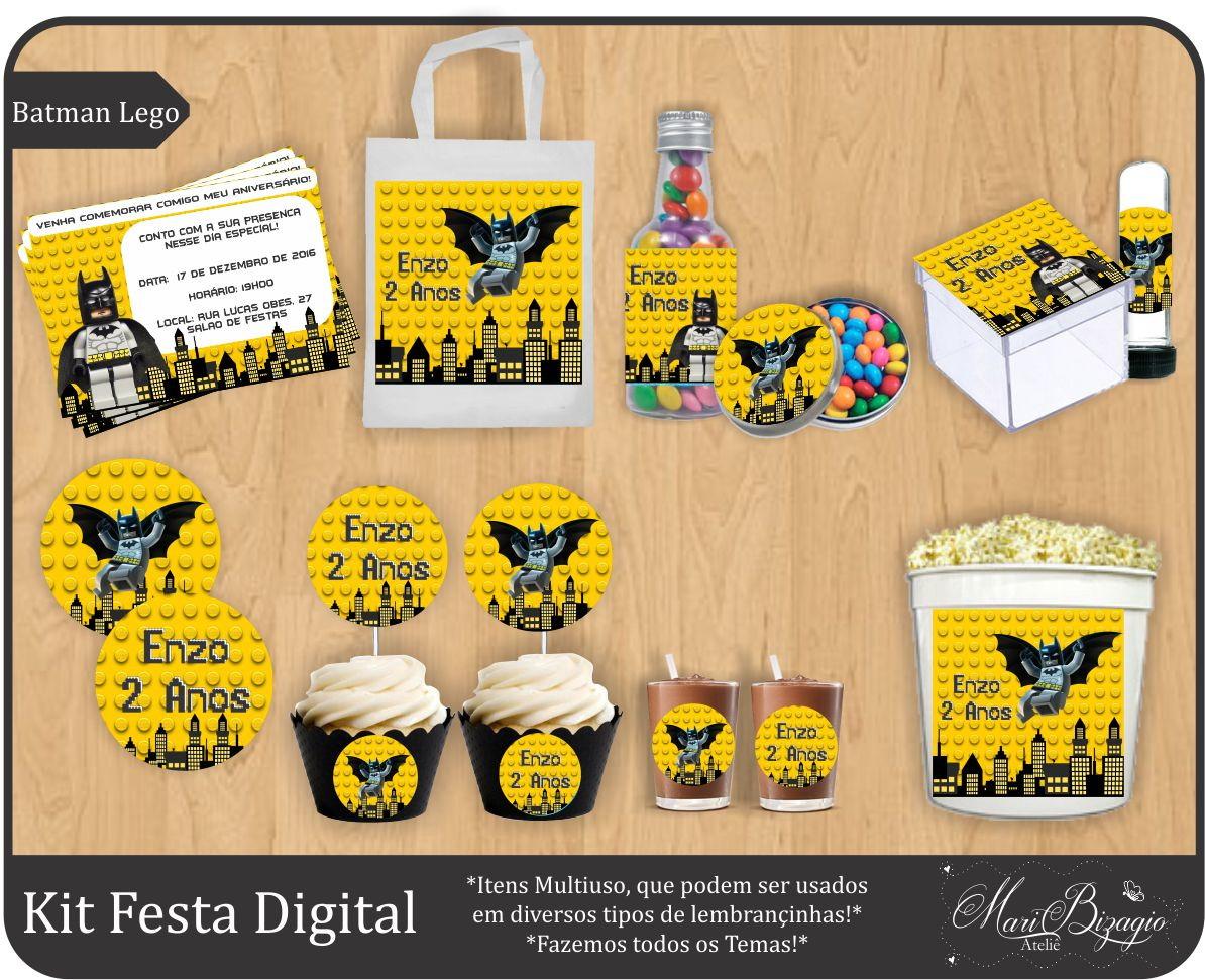 Mini Kit Festa Digital - Batman Lego I No Elo7