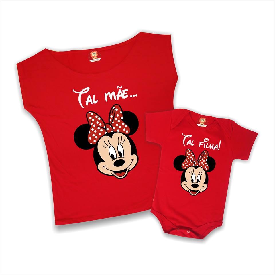 4a325a2f77148 Camiseta e Body Tal Mãe Tal Filha Minnie no Elo7