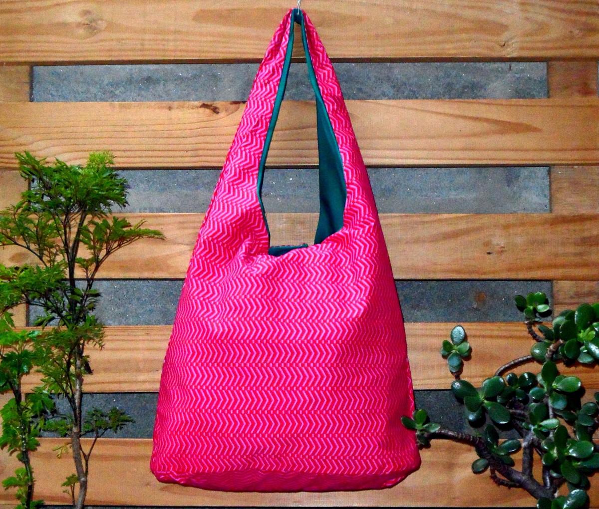 Bolsa Saco em Tecido Dupla-Face Rosa no Elo7  5c4a2e9e24f