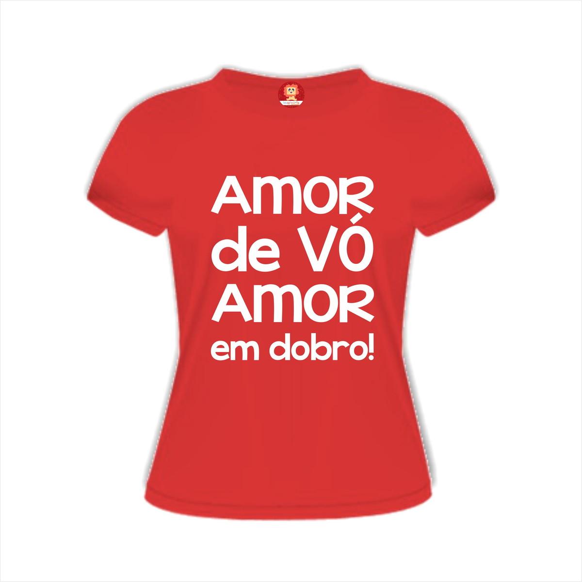 Camiseta Personalizada Amor de Vó no Elo7  e4a289feb9562