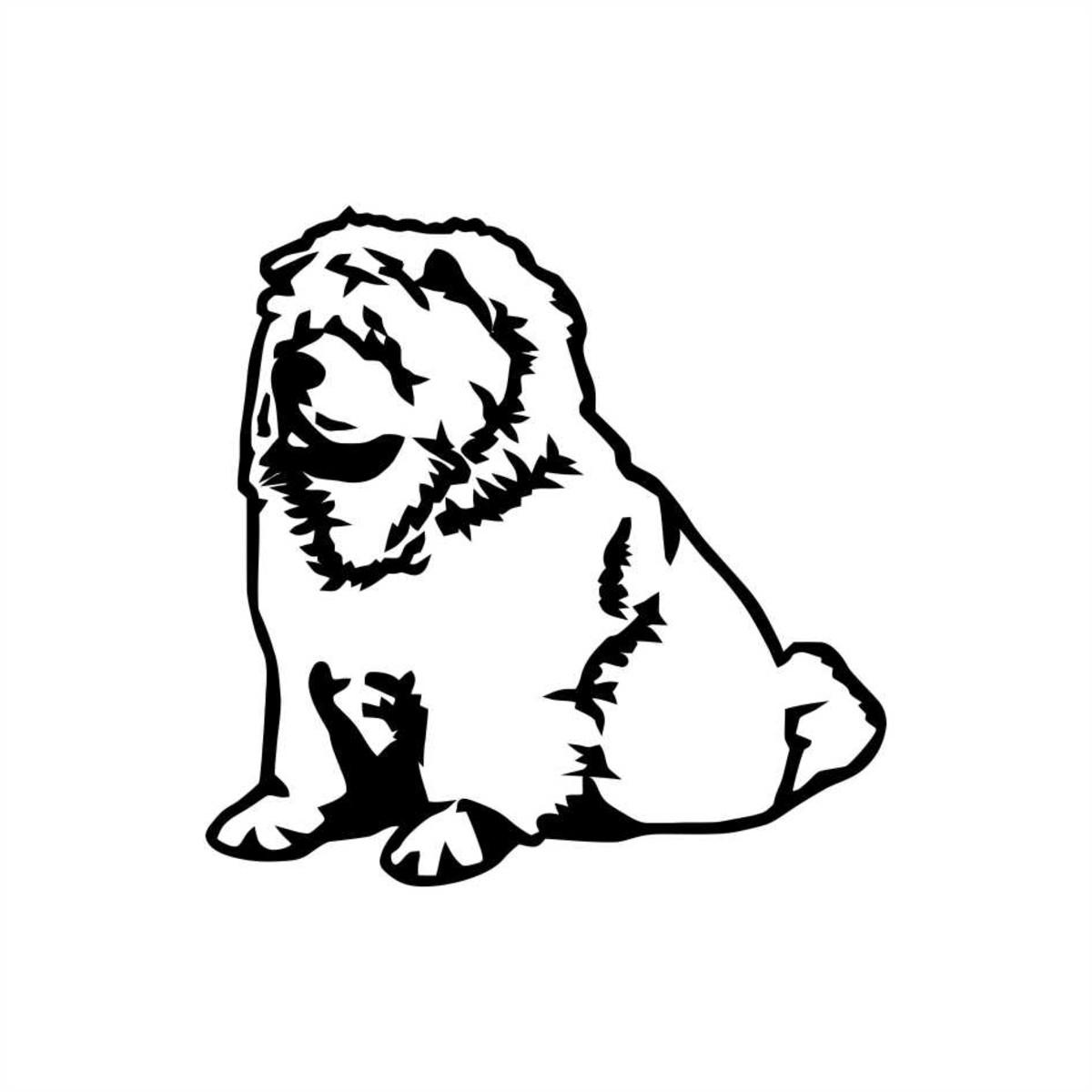Adesivo Pet Cachorro Chow Chow 10x10cm No Elo7 Queen Industria
