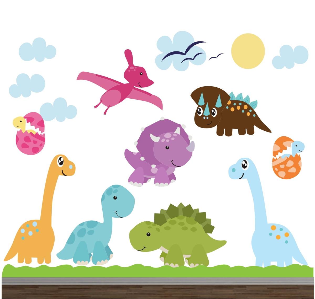 Adesivo Dinossauro Infantil Animais 03 No Elo7 Quartinhodecorado