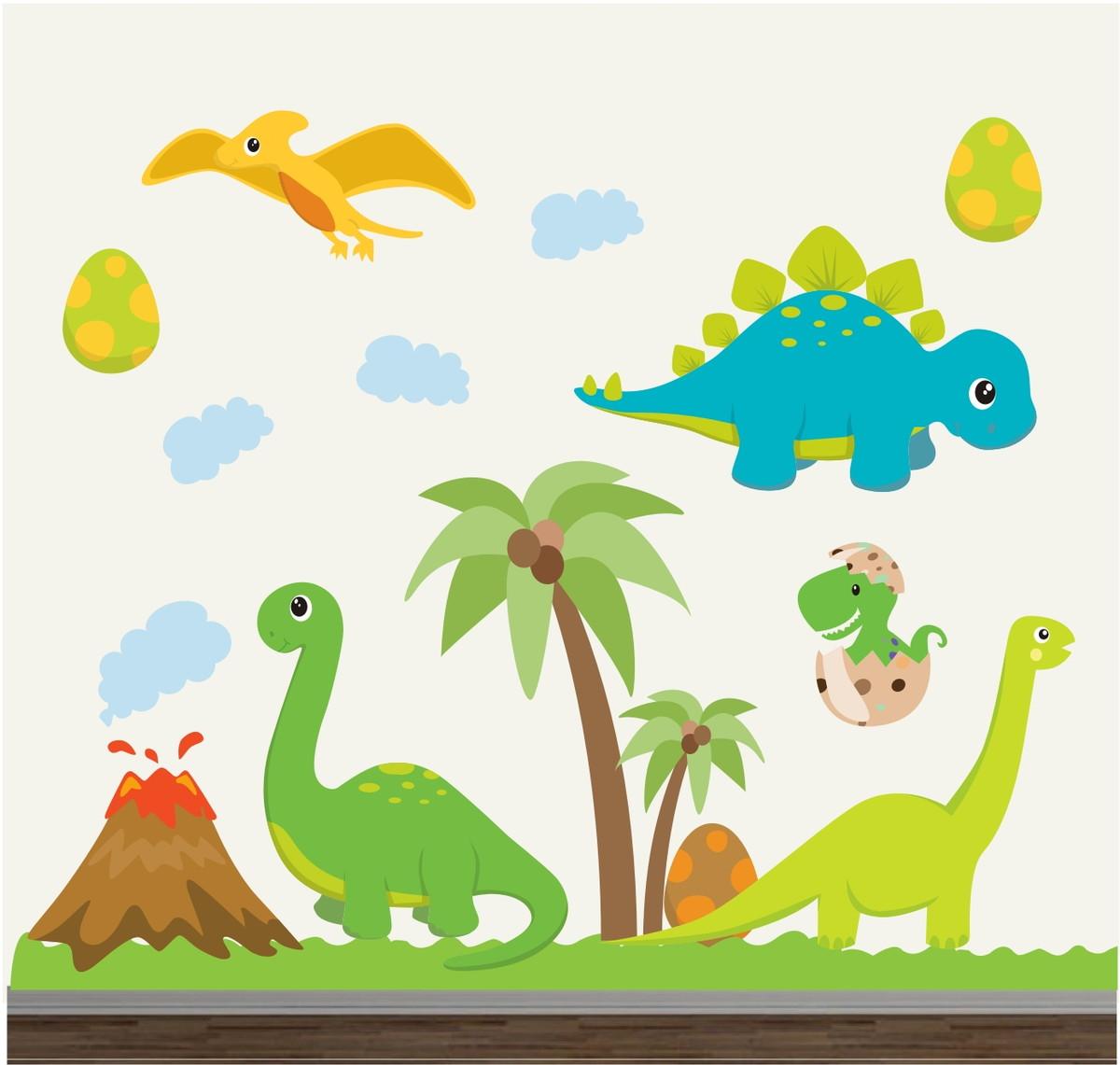 Adesivo Dinossauro Infantil Animais 04 No Elo7