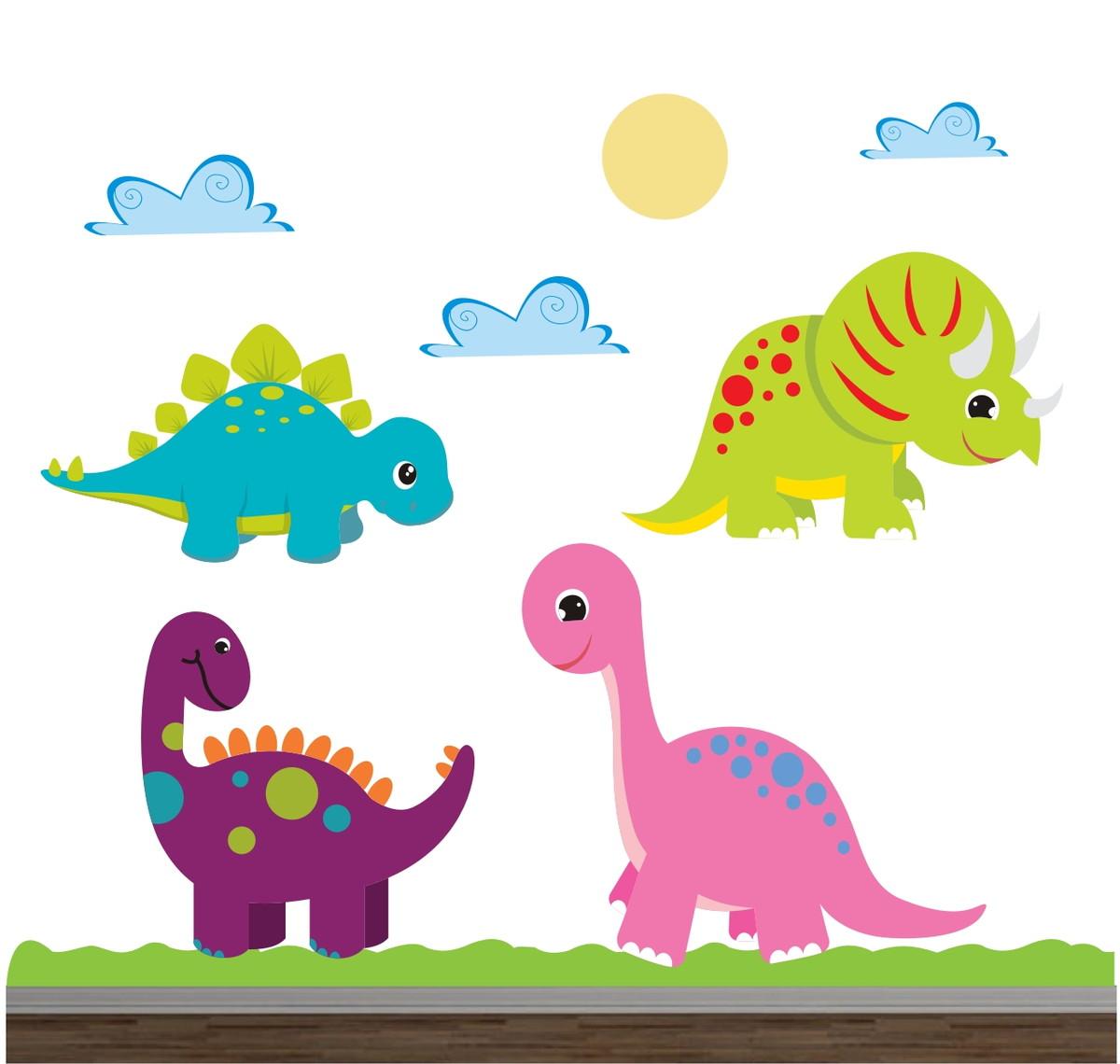 Adesivo Dinossauro Infantil Animais 06 No Elo7