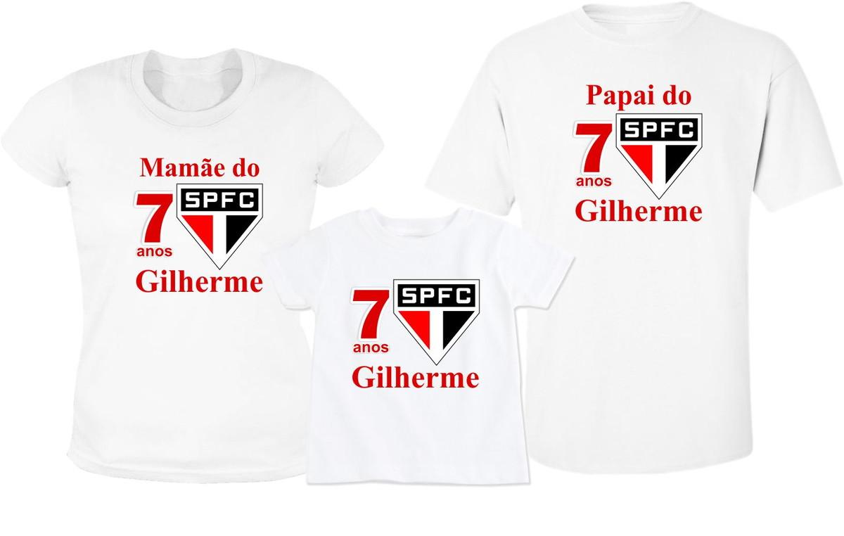 Kit 3 Camiseta Aniversario São Paulo no Elo7  d7fff2e9f6f38