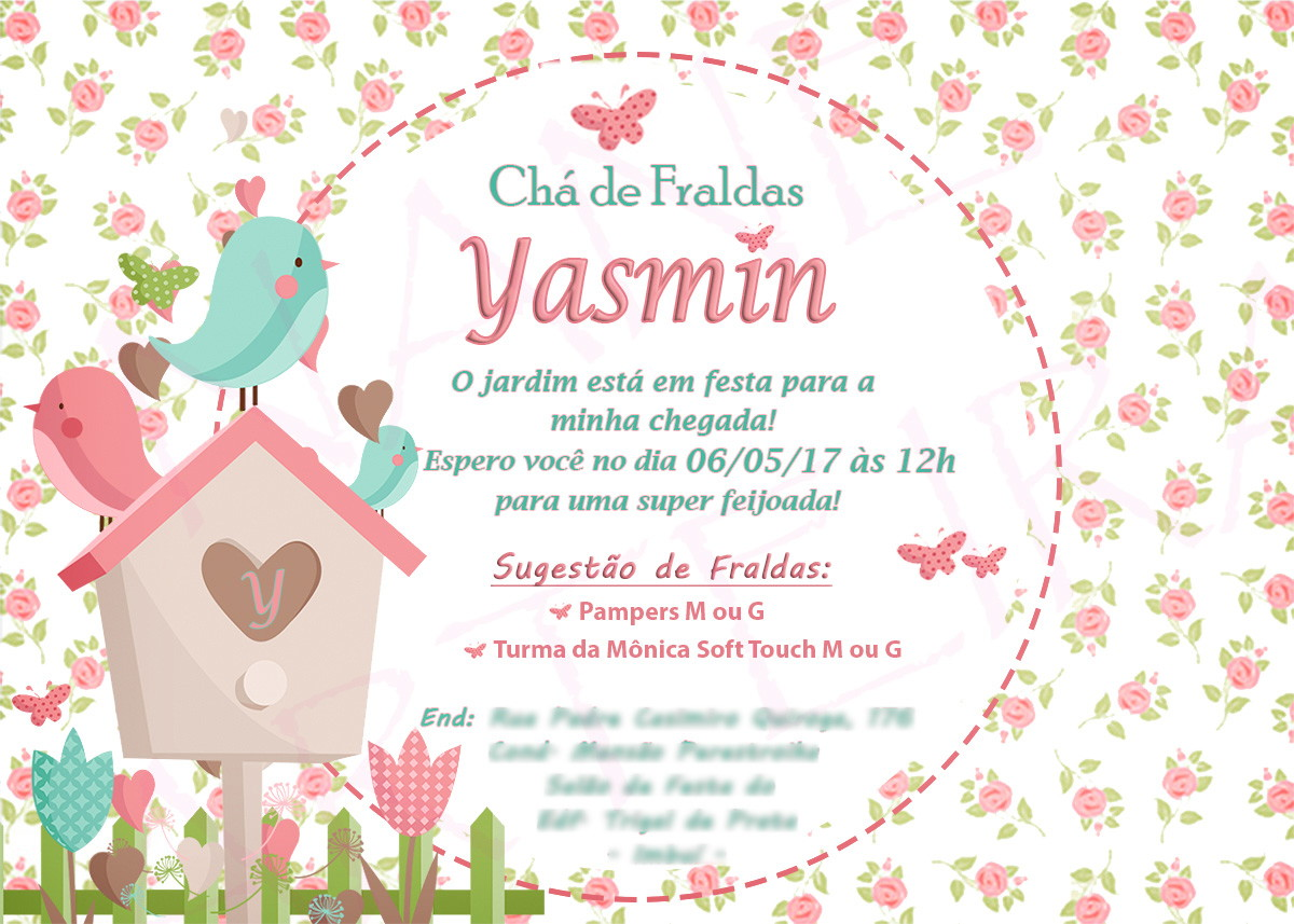 Mensagem De Convite De Cha De Fralda: Frase Para Convite De Cha De Fralda