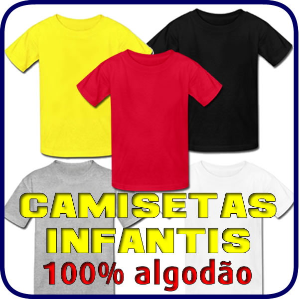 Camiseta Lisa Infantil 100% Algodão. no Elo7  7168ff7e58b