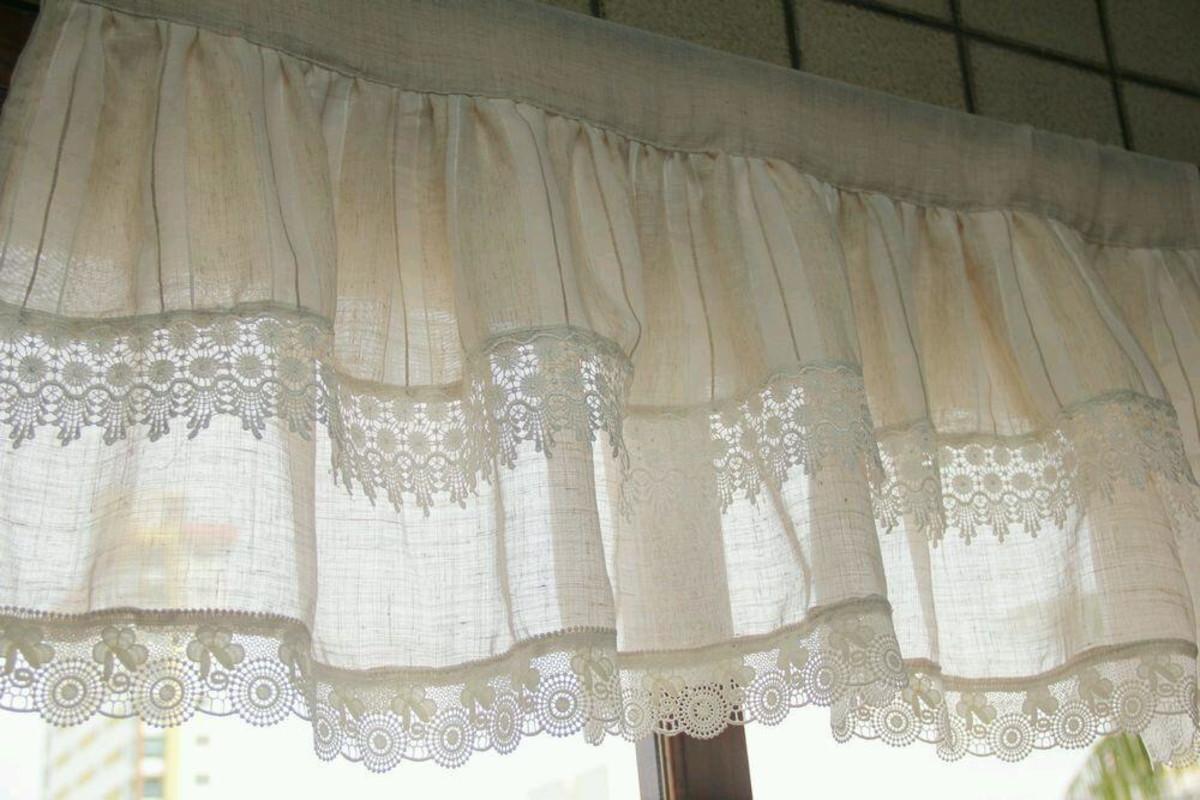 Image of: Bando De Cortina De Linho No Elo7 Cilia Artes Fricotes 8e0f68