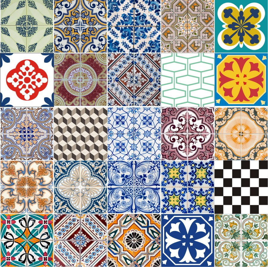 Adesivo decorativo azulejos hidr ulicos fama adesivos elo7 for Azulejos decorativos