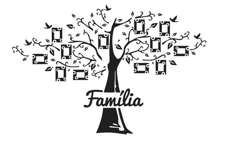 Adesivos De Letras Pequenas ~ Vetor AdesivoÁrvore Família Para Parede no Elo7 Clicsul