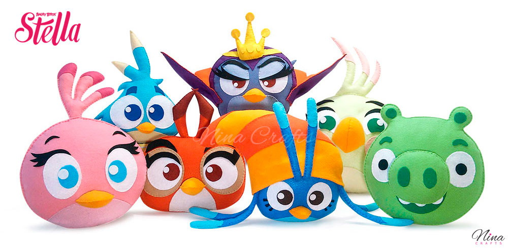 Personagem Angry Birds: Kit Angry Birds Stella - Feltro