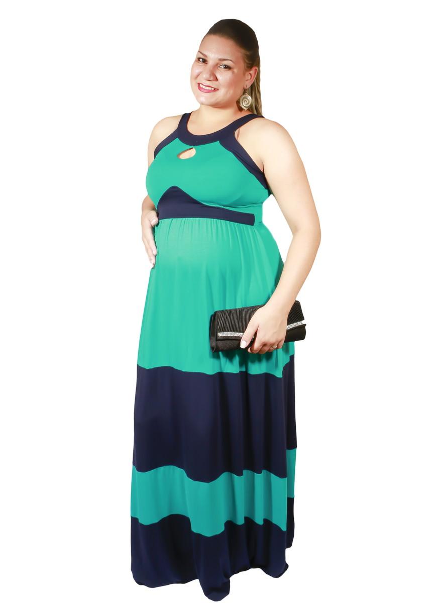 Vestido Gestante Gravida Longo Plus Size