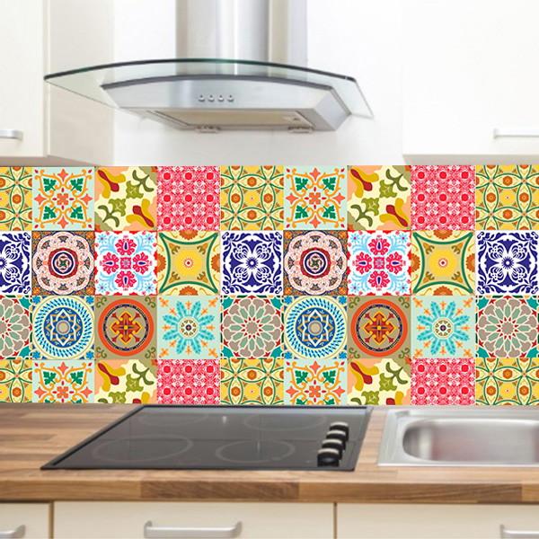 Armario Sala ~ Adesivo para Azulejo Cozinha Coloridos 2 no Elo7 6Formas Adesivos Decorativos (8EAAEB)