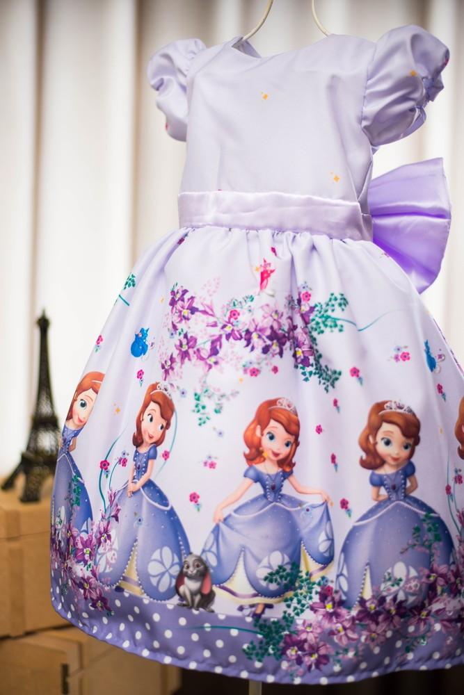 Vestido Da Princesa Sofia Luxo