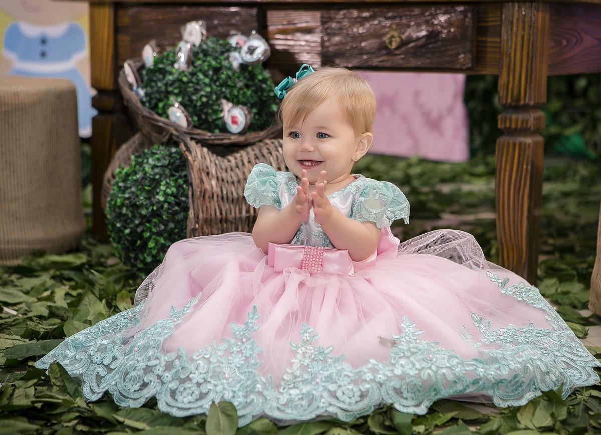 d9ee1e984 Vestido de Daminha Verde Rosa - Infantil no Elo7   Liminha Doce ...